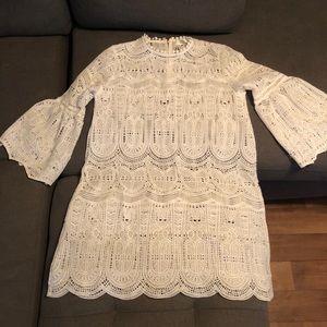 White Lace Like Dress